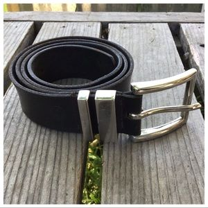 """Levi's Leather Belt Silver Buckle 38"""""""